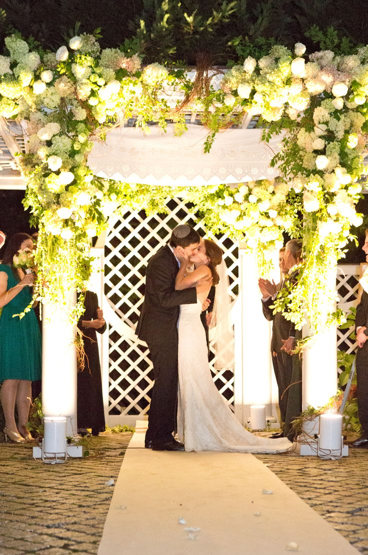 The chuppah is the canopy under which all Jewish weddings are performed. It is composed of a piece of fabric held up by four poles; the poles are sometimes ... & Jewish Wedding 101: The Chuppah - Jewish Wedding BlogJewish ...